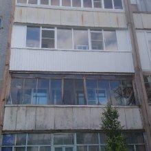 Монтаж лоджии 6 метров, с обшивкой профлистом, ул. Строителей д. 6а, этаж 3-й