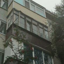 Монтаж П-образного балкона во весь рост, ул. Строителей д. 3а