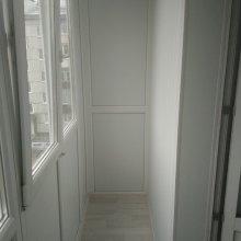 После монтажа балкона, утепление и обшивка балкона внутри, ул. Строителей д. 3а, Усинск
