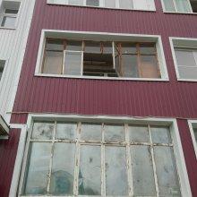 Усинск, монтаж лоджии 3-и метра ул. Воркутинская д. 11