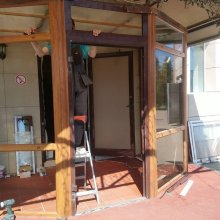 """Замена двери и подбор цвета ресторан """"Шарью"""""""